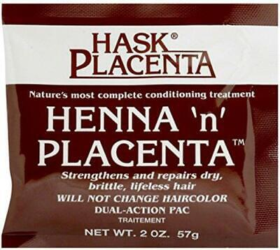 HASK HENNA 'N' PLACENTA CONDITIONING TREATMENT 2 Oz STRENGTHENS,REPAIRS DRY HAIR • 2.45£