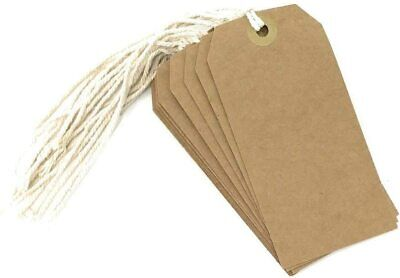 £1.49 • Buy Luggage Tags With String Large Tie On - Brown -  4 Pack Sizes Eco Friendly