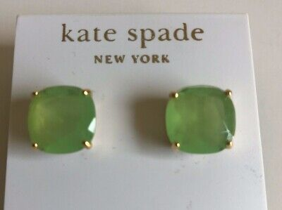 $ CDN43.37 • Buy Kate Spade Green Square Gumdrop Earrings NWT Post 14k Fill.