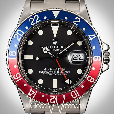 $ CDN21566.64 • Buy 100% Rolex Factory GMT Pepsi Blue Red Stainless Steel Mens 40mm Sports Watch