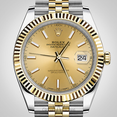 $ CDN20652.24 • Buy Rolex 126333 Datejust 41mm Mens Jubilee Two-tone 18K Gold Fluted Champagne Index
