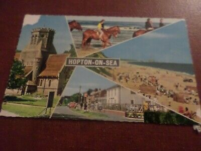 1972 Postcard Hopton-On-Sea (4 Views) • 0.99£