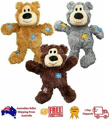 AU19.45 • Buy KONG Wild Knots Bear-Plush Pet Puppy Dog Toy - 4 Sizes (Color May Vary)