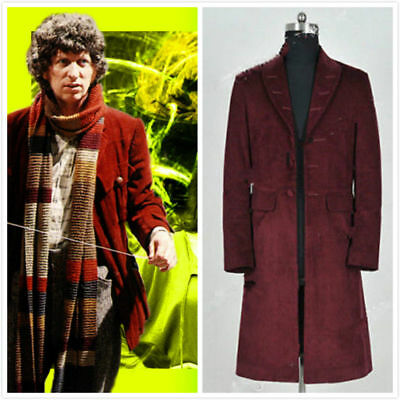 Doctor Who 4th Fourth Dr Tom Baker Cosplay Costumes Trench Coat Party  AA.106 • 36.60£