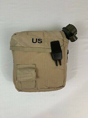 $ CDN17.52 • Buy US Military 2 QT Collapsible Water Canteen + Desert Tan Cover Pouch VGC