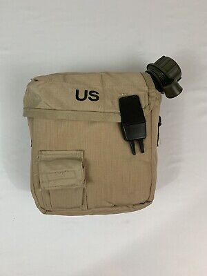 $ CDN21.09 • Buy US Military 2 QT Collapsible Water Canteen + Desert Tan Cover Pouch VGC