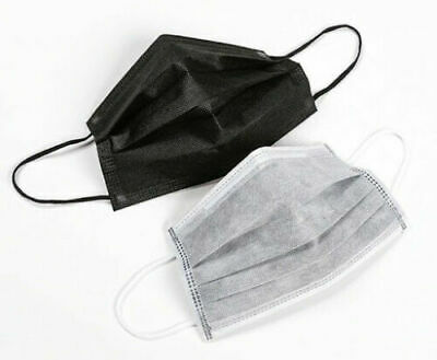 AU12.95 • Buy 4 LAYER BLACK WHITE GREY BLUE Disposable Medical Face Mask 4PLY