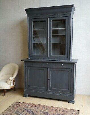 Vintage Antique Large French Grey Linen Press Cupboard Armoire Cabinet • 1,800£