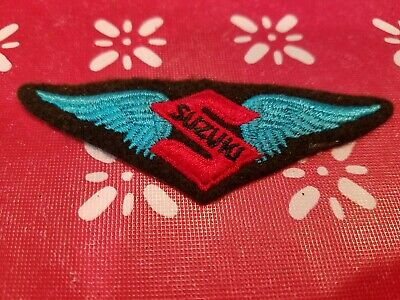 $5.99 • Buy Suzuki Motorcycles Blue Wings Embroidered Patch