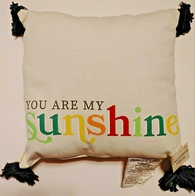 14  X 14  Decorative Square Throw Pillow With Tassels  You Are My Sunshine  • 4.07£