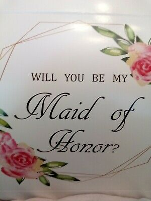 $8.95 • Buy Will You Be My Maid Of Honor Proposal Box  1  Gift Box + Charm / Wedding
