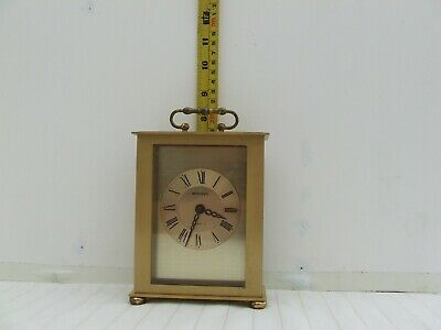 Staiger' Brass Carriage Clock With Swiss Quartz Movement • 15£