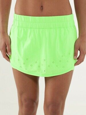 $ CDN84.45 • Buy NWT Lululemon Run: Breeze By Skirt Skort 10 Zippy Green ZIGR Neon