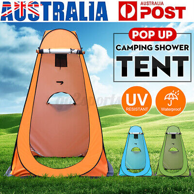 AU29.39 • Buy Portable Camping Shower Shelter Tent Outdoor Privacy Toilet Beach W/ Carry Bag
