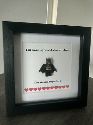 Batman Superhero Frame Picture Birthday Anniversary Gift Boyfriend Christmas • 13£