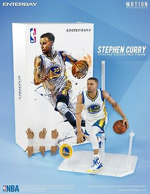 $280 • Buy Enterbay 🏀 1/9 Motion #30 Stephen Curry NBA GSW Golden State Warriors Figure 🏀