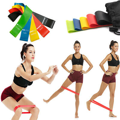 $ CDN9.39 • Buy Resistance Bands Exercise Sports Loop Fitness Home Gym Yoga Latex Set Or Singles