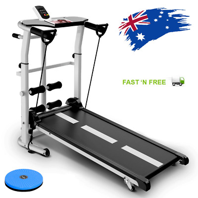 AU498 • Buy AU-3 In 1 Multifunction Manual Treadmill, Sit Up, Waist Twister Exercise Machine