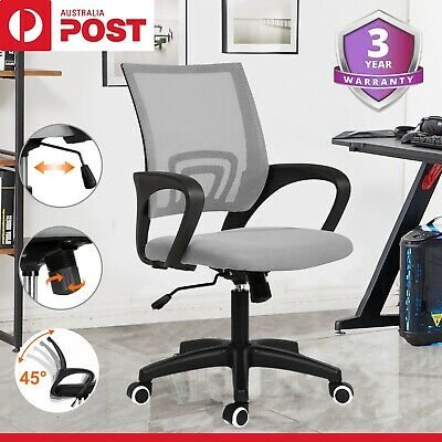 AU58 • Buy Ergonomic Office Chair Gaming Computer Mesh Chairs Executive Mid Back Seating