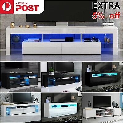 AU179.99 • Buy Modern LED TV Unit Cabinet TV Stand Entertainment Unit Storage Gloss Drawers RGB