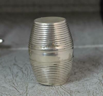 Rare English 1789 Georgian Sterling Silver Nutmeg Grater Of Barrel Form • 555£