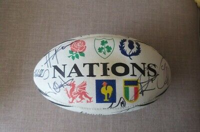 Signed Wales Rugby Ball Grandslam 2019. A W Jones L Williams Plus 15 Players. • 164£