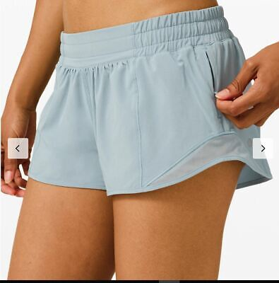 $ CDN99.99 • Buy Lululemon Nwt Hotty Hot Short 2.5  Sz 6 Blue Cast Tennis Beach Run Free Ship