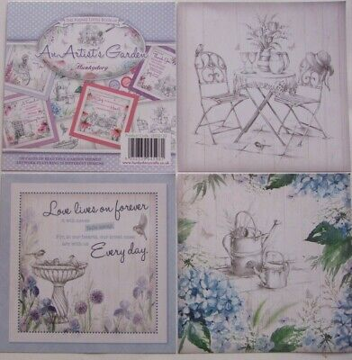 25 Mix Sq Card Toppers  An Artist's Garden  Hunkydory  See Pics See Description • 2.75£