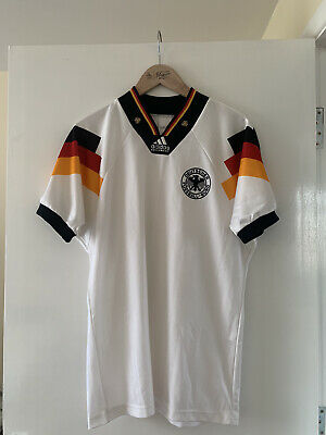 Vintage Adidas Equipment Germany 1992 Home Football Shirt Size Small • 50£