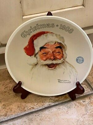 $ CDN21.27 • Buy Knowles Norman Rockwell Santa Claus 8.25  1988 Bradford Exchange Plate Euc