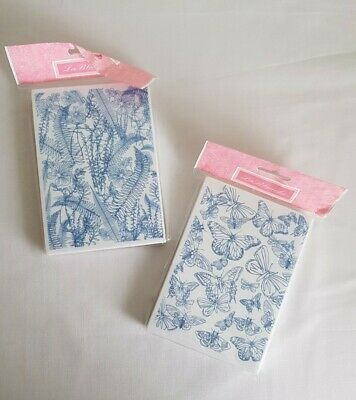 La Blanche Foam Stamps Bundle X 2 ~ Foliage/Ferns & Butterflies • 14.99£