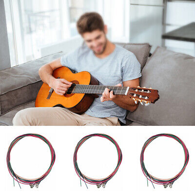 $ CDN8.69 • Buy 3 X Set Of Guitar Strings Replacement Steel String For Acoustic Guitar New