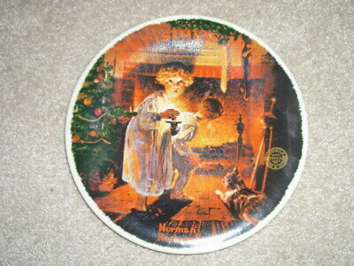 $ CDN25 • Buy KNOWLES Norman Rockwell CHRISTMAS PLATE 1979 Somebody's Up There - Fine China