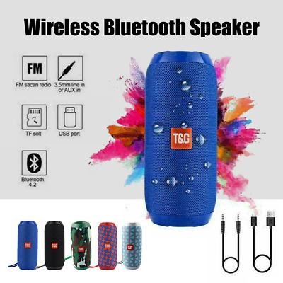 AU22.40 • Buy Bluetooth Wireless Speaker Outdoor HIFI Portable Rechargeable Stereo USB/TF/AUX