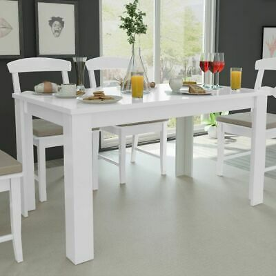 AU212.95 • Buy Contemporary Kitchen Dining Table White 140cm Sturdy Rectangle Dinner Furniture