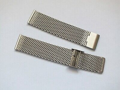 Stainless Steel Shark Mesh Watch Strap 20mm By Geckota • 11£