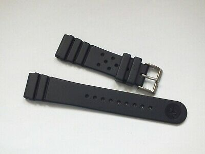 ZULUDIVER 284 Italian Rubber Diver's Watch Strap 22mm Navy Blue • 3.99£