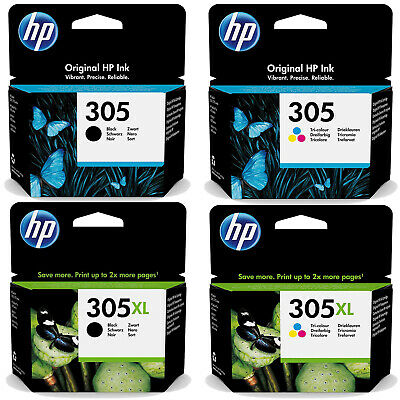 Genuine HP 305 / 305XL Black & Colour Ink Cartridges *Choose Your Ink* • 18.20£