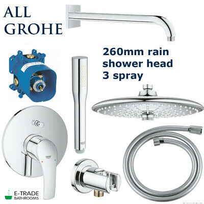ALL GROHE SET EUROSMART Shower Mixer Rapido SMARTBOX Rain Shower EUPHORIA 260 • 439.90£