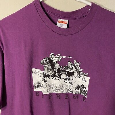 $ CDN104.01 • Buy Supreme Riders Tee Purple - New SS19 Sz L Large Spell Out Logo Sup Black White