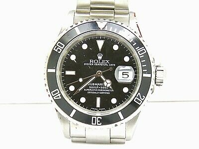 $ CDN13230.99 • Buy Rolex 40mm. Submariner Date 16610 Stainless Steel Rolex Box No Papers 2005