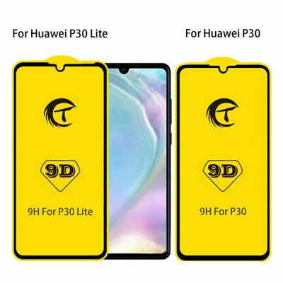 For Huawei P20 P30 Pro Lite Mate 20X Full Cover Tempered Glass Screen Protector • 3.49£