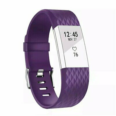 AU3.71 • Buy Large Replacement For Fitbit Charge2 Wristband Silicone Watch WristBand Strap