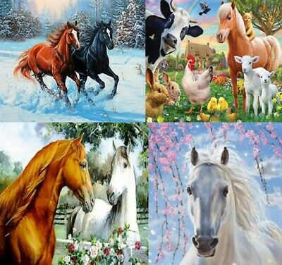 AU15.95 • Buy 5D DIY Diamond Painting Full Round Drill Horse Home Decor Kits