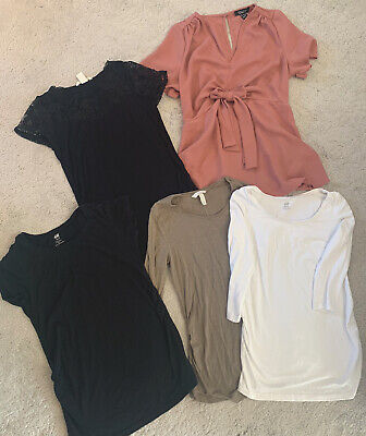Maternity Tops Bundle X5  Size 10 Small Casual & Dressy  • 7.50£