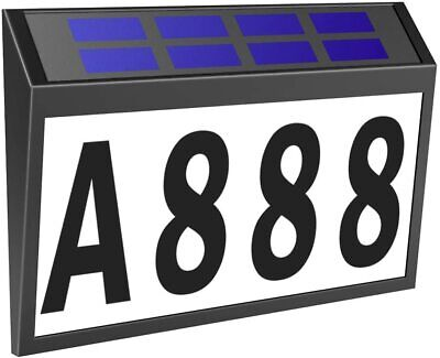 £14.99 • Buy Solar Powered House Door Number Light 10 LED Wall Plaque Address Signt IP44