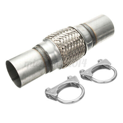 Exhaust Clamp-on Flexi Tube Joint Flexible Pipe Repair 1.75' X10'' 45x250mm Flex • 13.49£