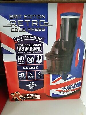 BRIT EDITION Retro Cold Press Juicer, As Used By Jason Vale, The Juicemaster • 50£
