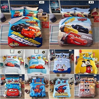 Disney Cars Bedding Set Duvet Cover Set 100% Cotton 205TC Single Double Sizes • 60.80£