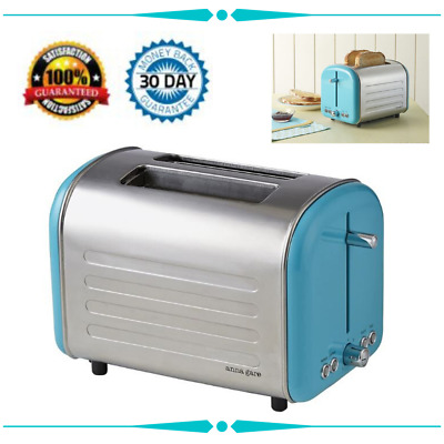 AU43.59 • Buy Toaster Electric Stainless Steel Two Extra-wide Slots Retro-inspired 240V Blue